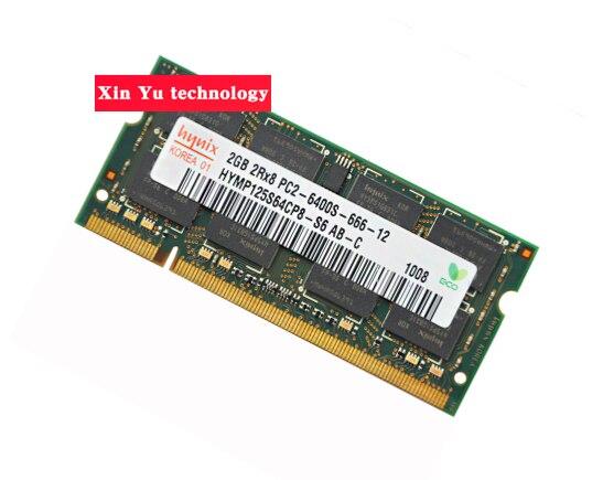 Garantie à vie Pour hynix DDR2 2 GB 4 GB 800 MHz PC2-6400S Original authentique DDR 2 2G mémoire portable ordinateur portable RAM 200PIN SODIMM