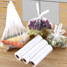 100PCS Transparen Roll Plastic Fresh-keeping Bags with Handle of Vacuum Food Saver Bag 3 Sizes Storage Keep Fresh