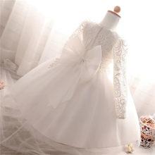 8279c295f Niños Niñas hermoso vestido de flores princesa Girls 1 años viejos trajes  de cumpleaños para la boda del partido bautizo