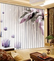 Customized Photo Curtains Purple flower Blackout Curtains For Living Room Bedroom Printing 3D Curtains