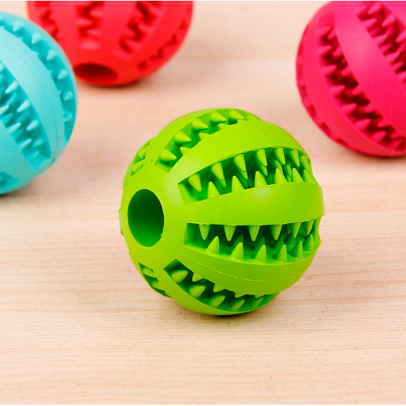 OnnPnnQ Rubber Pet Dog Cat Toy Ball Chew Treat Holder Tooth Cleaning Ball Food Dog Puppy Ball Training Interactive Pet Supplies3