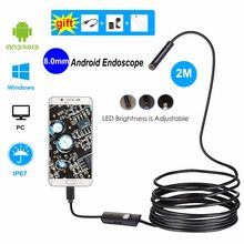 Endoscope Camera No Battery wifi and usb with Android IOS Endoscopio 720P Inspection Borescope Tube Camera 8 LED 8mm(China)