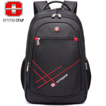 SVVTSS CFAP women's backpack men's backpack school bag ladies notebook Laptop backpacks male bag Nylon bagpack Black 2017