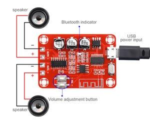 Image 2 - Bluetooth wzmacniacz Audio pokładzie 5 W * 2 Stereo Bluetooth dekoder 4.2 bezstratnej odbiornik kina domowego