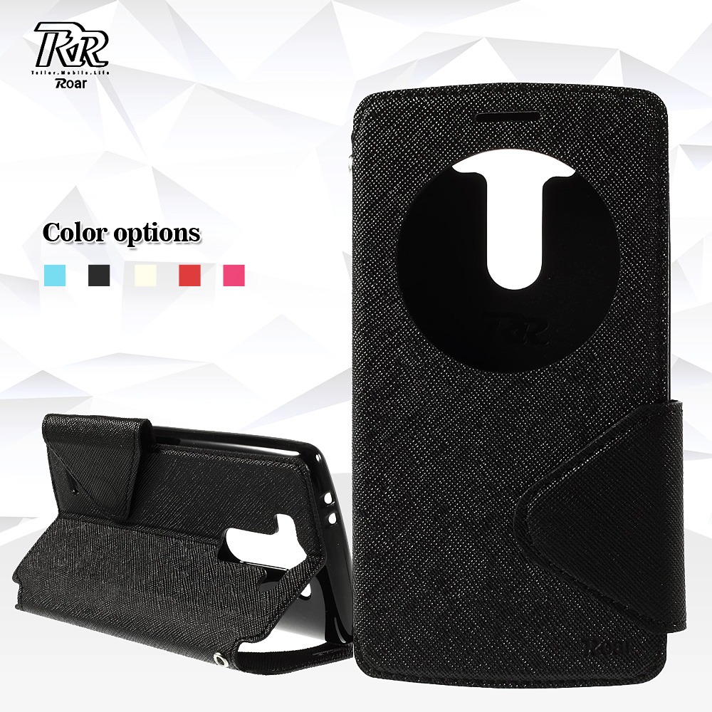 ROAR Bag for LG G3S 5 0 inch D722 D725 Case Diary View Window PU Leather