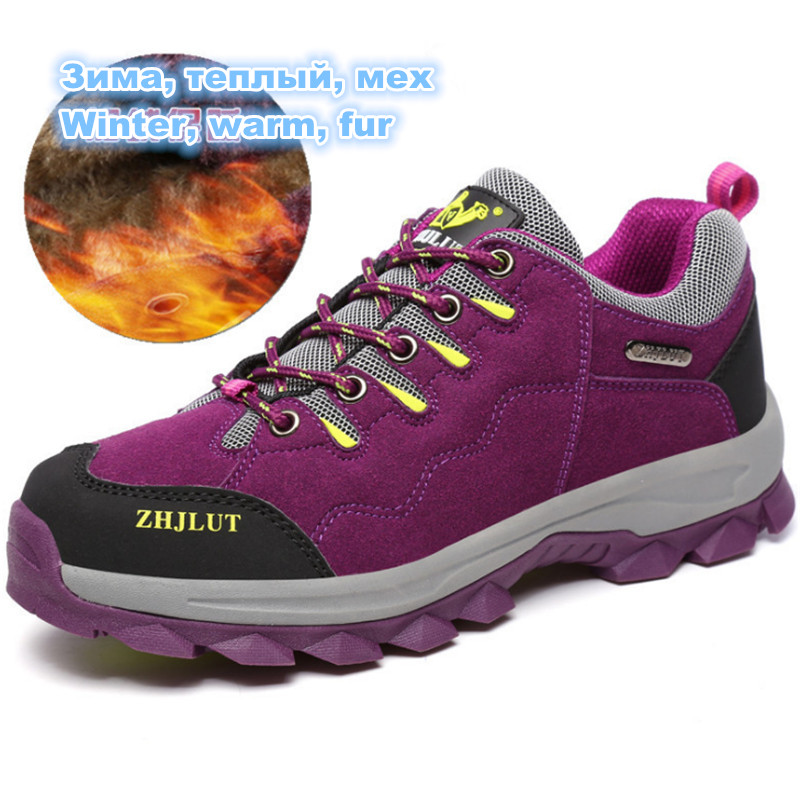 size 36-46 Winter Keep warm Outdoor Sports Shoes Women and Men Sneakers non-slip Off-road Waterproof Walking Trainers Running