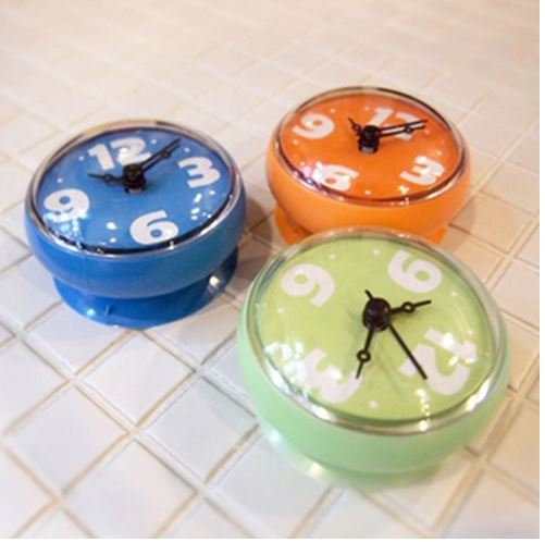 aliexpresscom buy creative bathroom waterproof wall clock waterproof sucker wall clock round mini sucker small wall clock from reliable clock weather : small bathroom clock