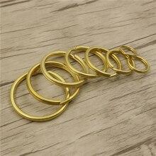 DIY Кожа ремесло брелок пряжка Твердый латунный материал 10 шт./лот