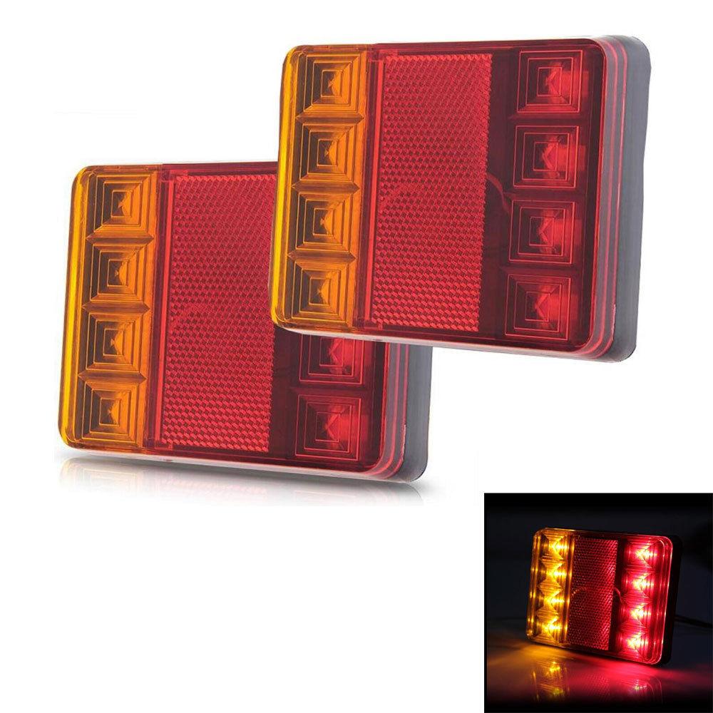 Автомобиля заднего хвост LED указатель поворота Лампа стоп-стоп-сигнал Siginal 12В 8 светодиодов Водонепроницаемый для Караван прицеп Кемпер грузовик Ван