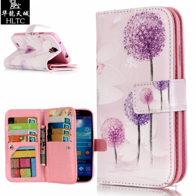 Magnetic Wallet Case for Samsung Galaxy S4 S 4 i9500 i9502 Duos i9505 i9506 Case Cover for Samsung S4 GT-i9500 GT-i9505 GT-i9502