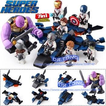 8 unids/lote Legoings vengador Marvel Thanos Hombre de Hierro Thor hombre  hormiga Capitán América final cifras bloques de construcción juguetes de