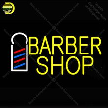 Barber Shop Logo NEON LIGHT SIGN for Hair cut Neon Sign lamps Decorate business room GLASS Tube BEER PUB Handcraft Iconic Sign(China)