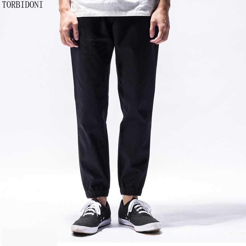 Casual Linen Pants Men S Spring Classic Elastic Waist Mens