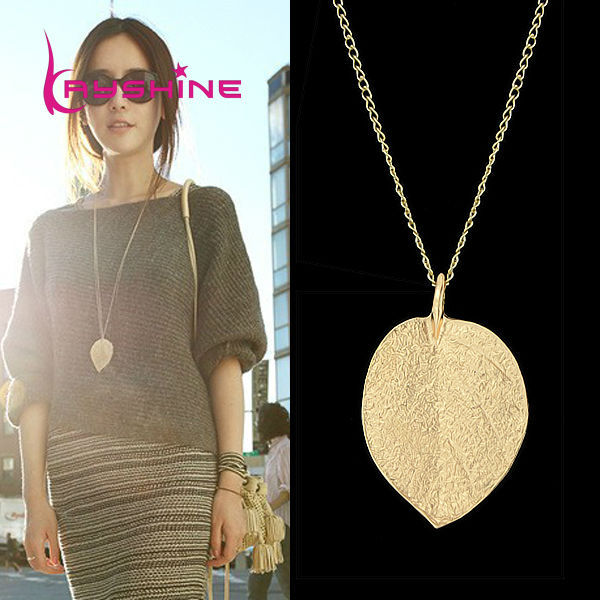 Cheap fashion jewelry maxi necklace gold color chain leaf design cheap fashion jewelry maxi necklace gold color chain leaf design pendant necklaces pendants new aloadofball Images