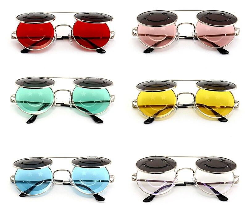 d2e00e65a417c ... round flip up sunglasses for men vintage steampunk 5028 details (3) ...