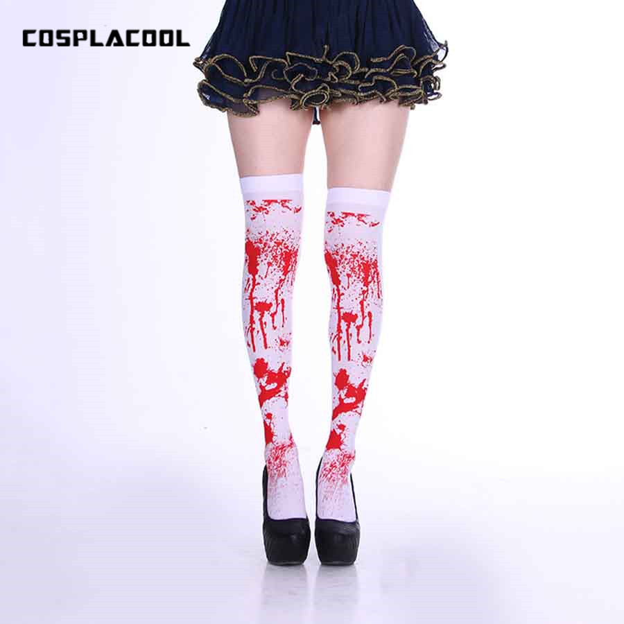Foreign Christmas Stocking Halloween Ghost Festival Bloody Pony Sexy Stockings Cosplay Party Bloodshot Hot Long Stocking