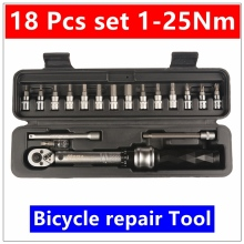 MXITA   1/4″DR 1-25Nm 18 PCS torque wrench Bicycle bike tools kit set tool bike repair spanner hand tools