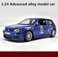 1 24 Advanced Alloy Model Car High Simulation Volkswagen Golf R32 Mode Toys Metal Diecasts Collection