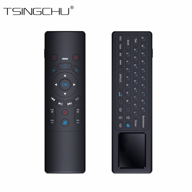 [Newest]2.4GHz T6 Remote Control With Keyboard And Touchpad Mini Wireless T6 Fly Air Mouse Touchpad Combo For Android TV Box/PC new ru for lenovo u330p u330 russian laptop keyboard with case palmrest touchpad black