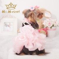 Various Luxury Princess Pet Dog Wedding Dress Cat Dress Puppy Skirt Clothes Pet Tutu Skirt Bride