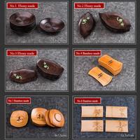 KingTeaMall Ebony / Bamboo Tea Cup Mat (No.1 No.5 6pcs/set. No.6 4pcs/set for Chinese Gongfu Cha, Teawares Teasets Gifts