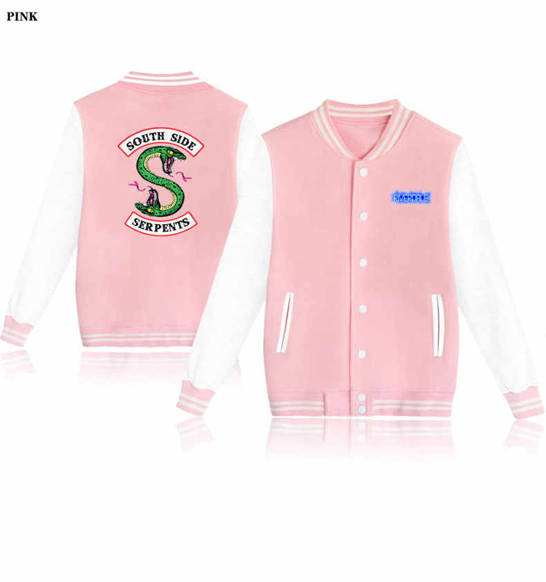 Harajuku Fashion High Quality 2019 Spring Hoodies Women Tumblr Sweatshirt Riverdale South Side Serpents Hooded Zip-up Jacket 4xl