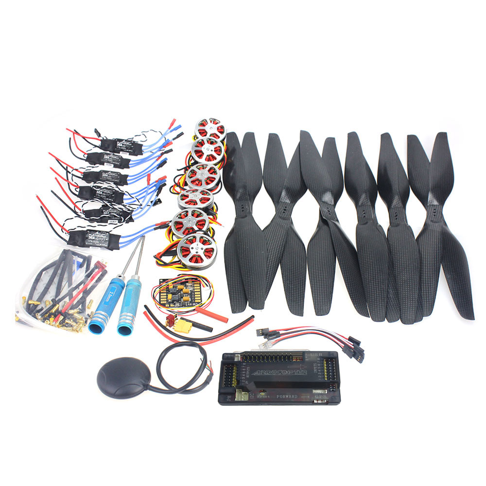 F05422-C  Foldable Rack RC Quadcopter Kit APM2.8 Flight Control Board+GPS+750KV Brushless Motor+15x5.5 Propeller+30A ESC f02015 f 6 axis foldable rack rc quadcopter kit with kk v2 3 circuit board 1000kv brushless motor 10x4 7 propeller 30a esc