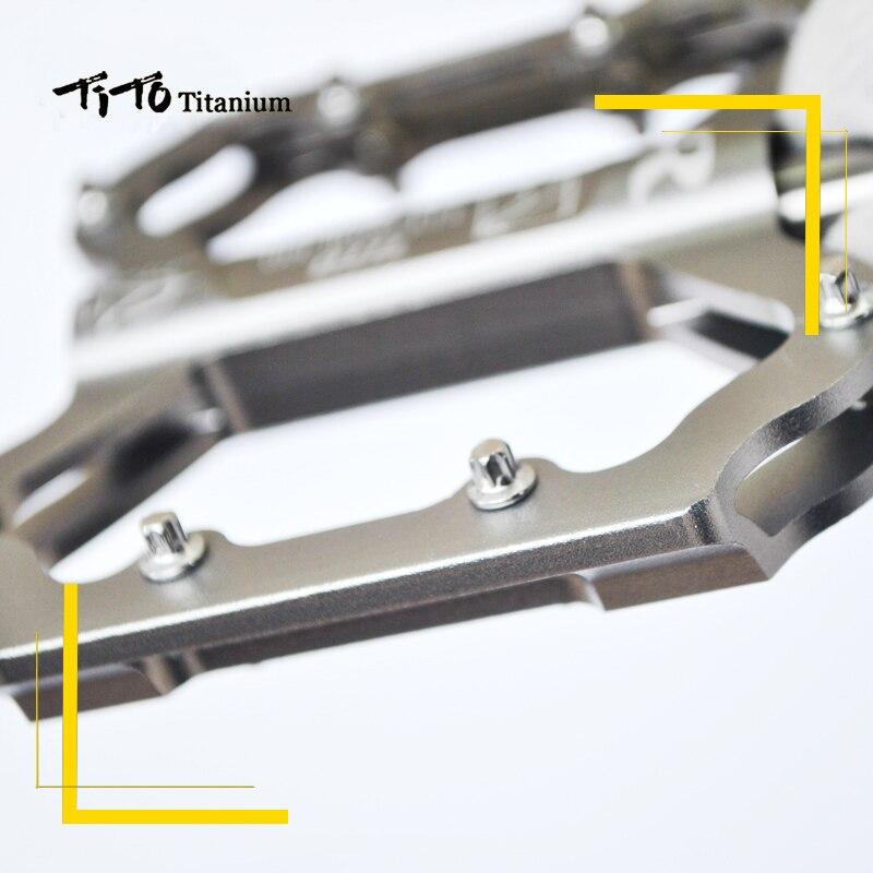 TiTo pédale ultralégère titanium pédale de bicyclette titanium alliage axe pédales de vélo vtt vélo VÉLO En titane 1 paire titanium pédale - 4