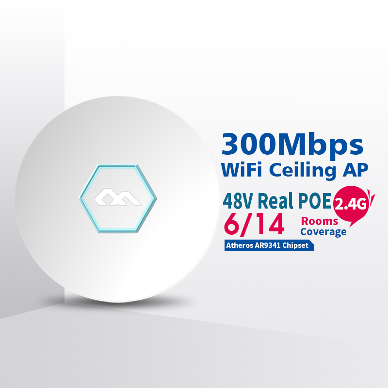 COMFAST 300Mbps 2.4Ghz Wireless ceiling AP wireless indoor AP wifi router business use marketing system AP openWRT CF-E325N comfast ac200 orange os system full gigabit wifi control ac gateway routing wireless roaming wifi coverage project manager route