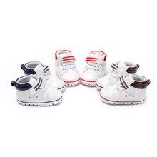 PU Leather Prewalker Infant Sweet Canvas Sneaker Anti-skid Hi-top Soft Baby Shoes Newborn Baby Boy First Walker 0-18 Months