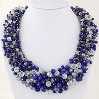 2017 luxury wedding party Jewerly colorful crystal beads Necklace Fashion Women Choker Bib Collar wholesale