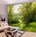 3D занавеска для фотографий  зеленый занавес для спальни  гостиной  офиса  пробоя ванная комната  Душ  Индивидуальный размер