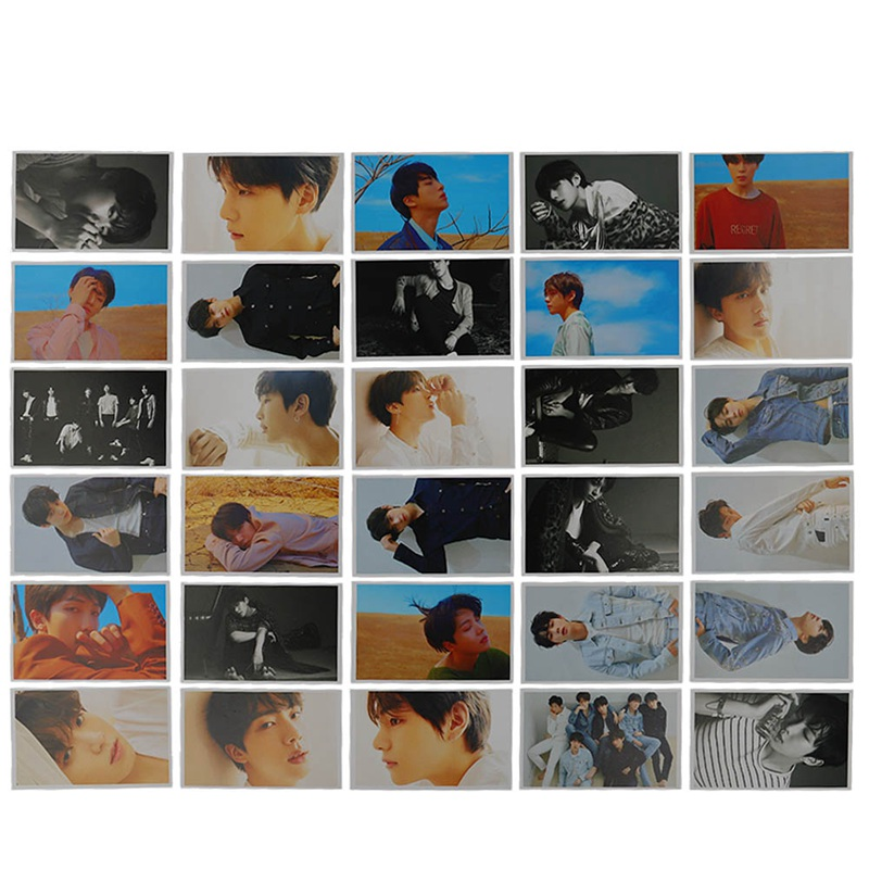 30pcs/pack Kpop BTS LOVE YOURSELF Photo Cards New Album Rounded Autograph Photocard Lomo Card ...
