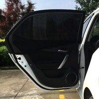 Car Styling 2x Car Rear Window UV Mesh Sun Shades Blind Kids Children Sunshade Blocker Black
