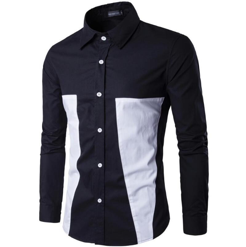 Men Shirt Long Sleeve Luxury Men Shirts Long Sleeve Mens Dress Cotton White Black Shirt Tuxedo Plus Size Slim Fit Chemise Homme