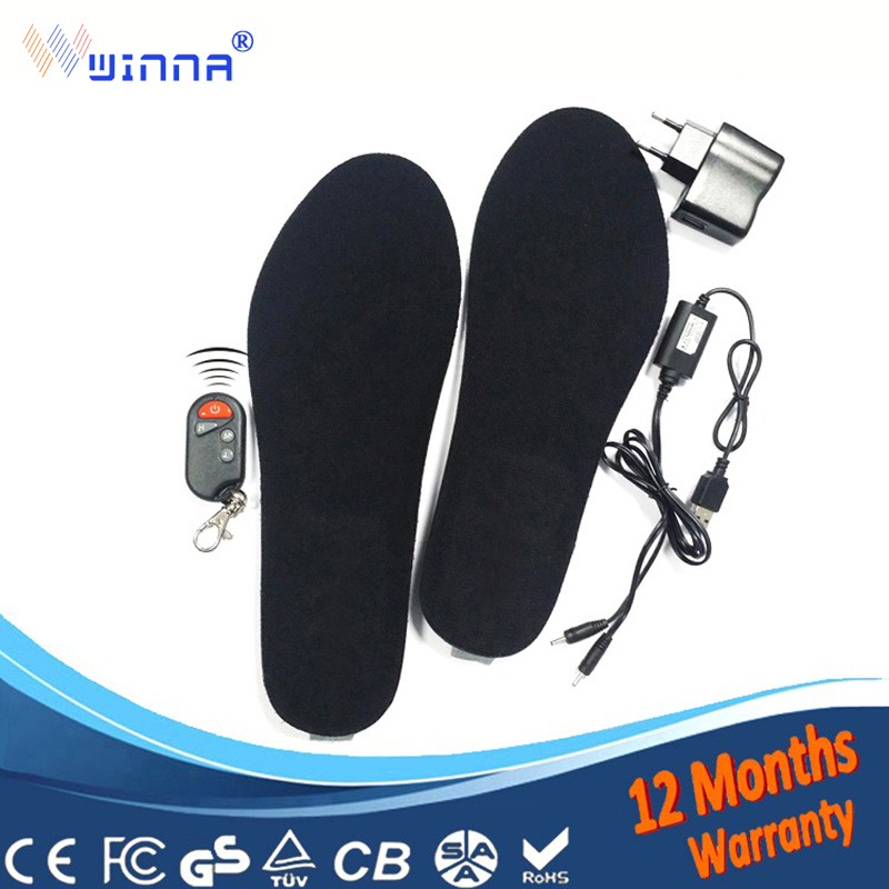 NEW Electric heating insoels chargeable Remote Control Thermal Insoles Buy Direct From China Factory 1800mAh