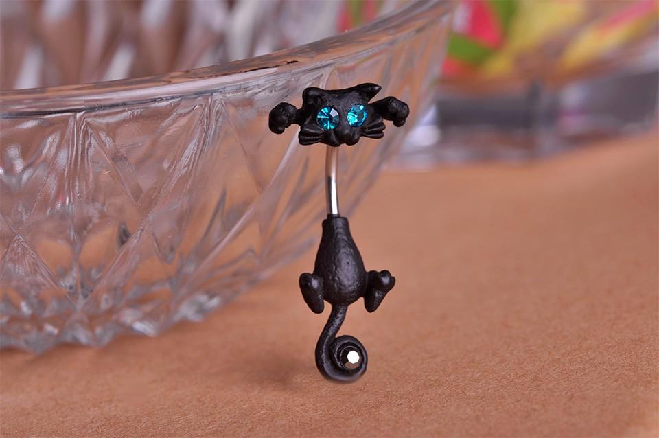 HTB1f5EEIXXXXXbwaXXXq6xXFXXXT Bejeweled Cat Body Piercing Belly Button Ring Jewelry - 3 Colors