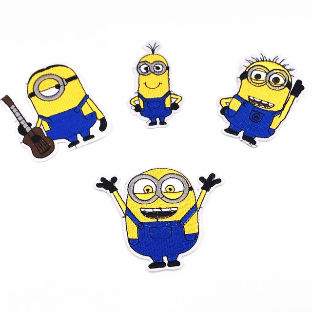 10PCS Embroidered Patches Cartoon Minions Sewing on Patches For ...