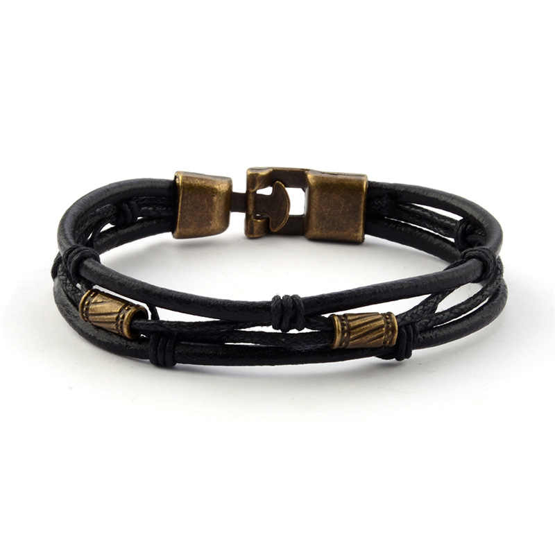 Nowy Causul ręcznie liny tkane mężczyźni urok skórzane bransoletki dla kobiet Homme moda biżuteria akcesoria