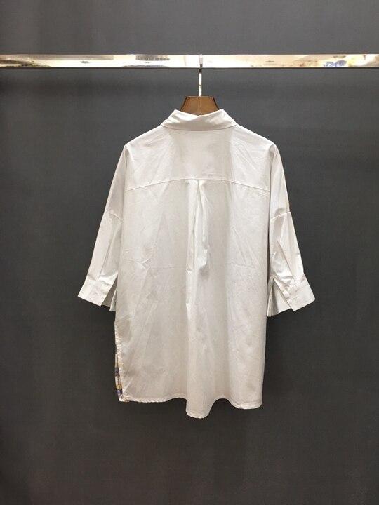 El Manga La 0315 Nueva Boxer Verano 2019 Giro Y Primavera Chica Medio De amarillo Pequeño collar Camiseta Blanco rAOEwA7Zq