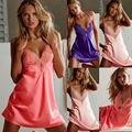 Hot Sale New Women Sexy Lace Silk Underwear Lingerie Sleepwear Nightdress Robe Pajamas