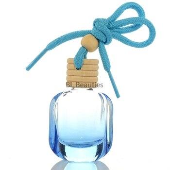 100pcs/lot Colorful Perfume Bottle Car Pendant Empty Glass Bottle For Essential Oil Car-Styling Car Hanging Perfume Bottles