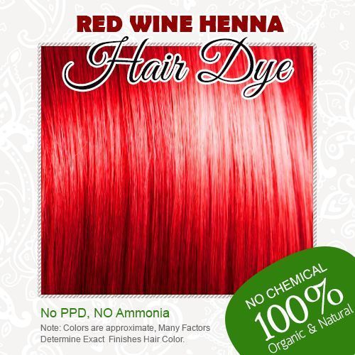 Red Wine Henna Hair Dye 100% Organic and Chemical free Henna for ...