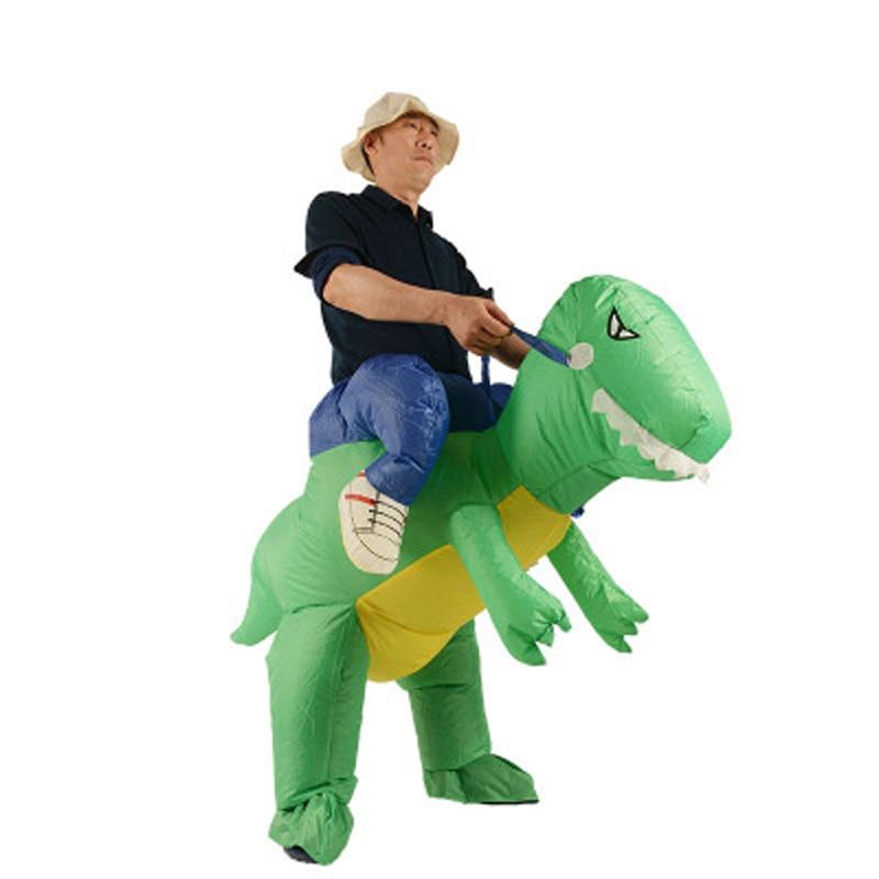 Disfraces de Halloween Onesies dinosaurio inflable traje adulto T-Rex - Disfraces