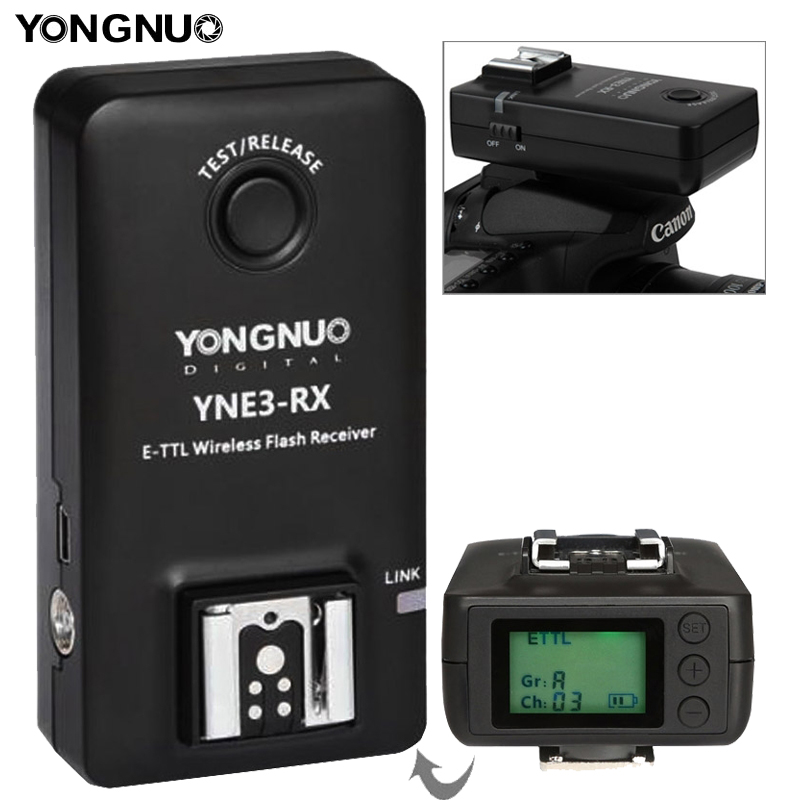 YONGNUO YN-E3-RX e-TTL Wireless Flash Receiver for YONGNUO YN568EX II YN565EX II YN600EX-RT Canon 580EX II 600EX-RT 100m yongnuo yn e3 rt ttl radio trigger speedlite transmitter as st e3 rt compatible with yongnuo yn600ex rt