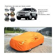 Orange Automotive Exteriors Clothing Rain Snow Resistant Car Covers For lavida lifan Mazda Skoda Octiva Kia