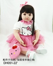 22 inches 55 cm Silicone baby reborn dolls realistic doll reborn babies toys toys for pink