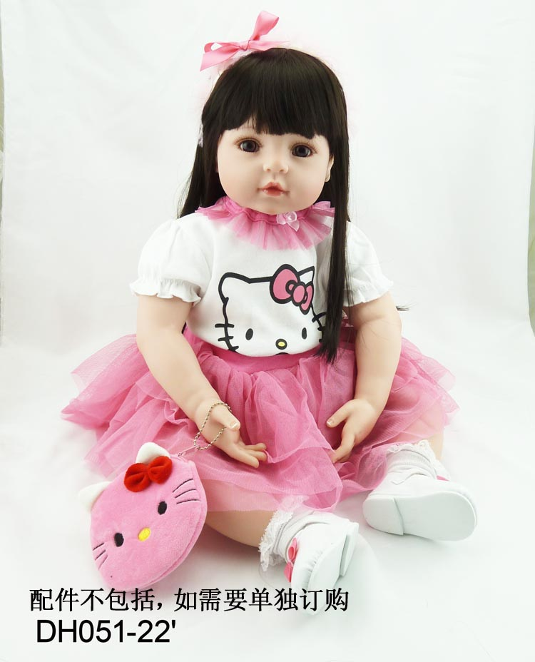 22 pouces 55 cm Silicone bébé reborn poupées, réaliste poupée reborn bébés jouets jouets pour rose princesse fille cadeau jouets pour enfants
