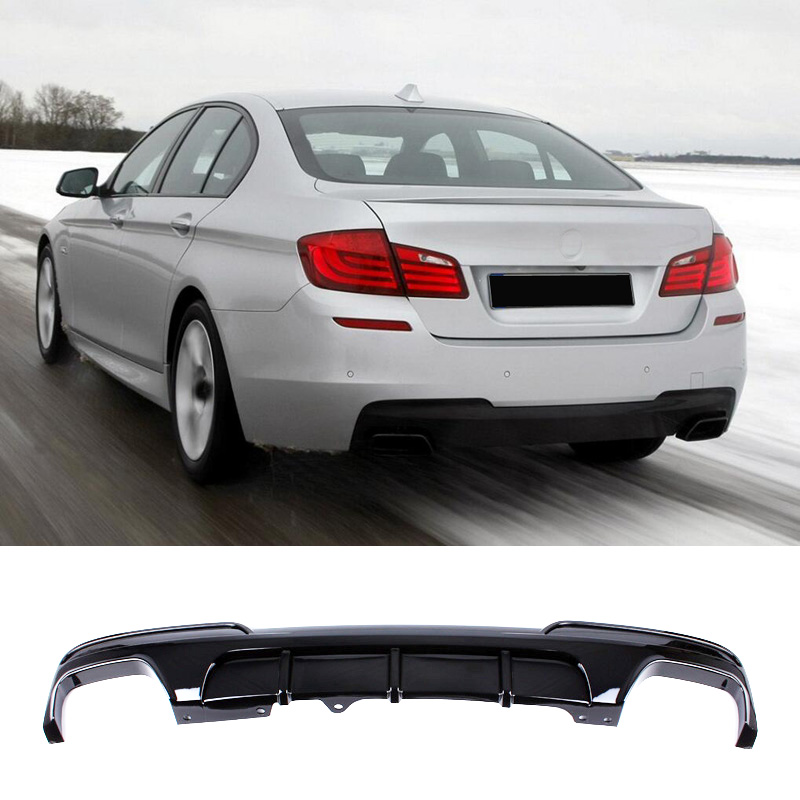 M P Style PP material Bumper Rear Diffuser For BMW 5 Series F10 F18 525i 535i