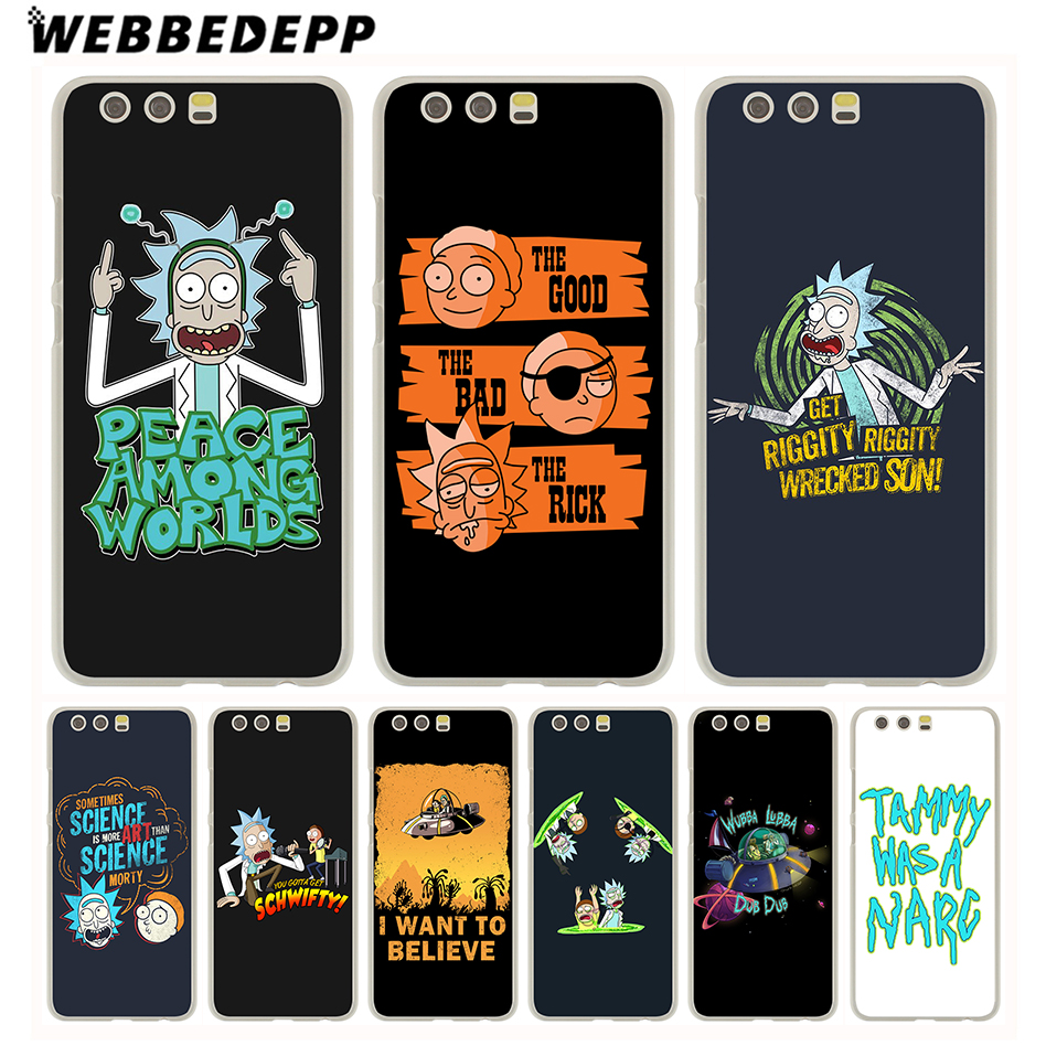Webbedepp Funny Cartoon Comic Meme Rick And Morty Hard Case For Huawei P20 Pro Smart P10 P9 Lite 2016/2017 P8 Lite 2015/2017 High Quality Half-wrapped Case Phone Bags & Cases